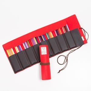 多用途(紅)48色彩色鉛筆卷筆袋