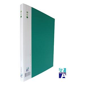 Double A PP A4右中彈簧夾-綠色 DAFF13013