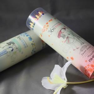 療癒的隨手塗鴉‧輕便色鉛筆長版36色粉藍