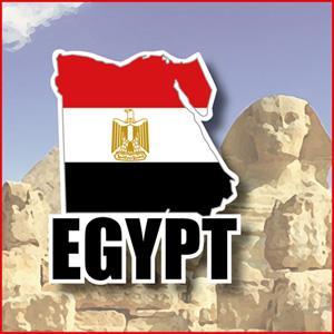【國旗商品創意館】埃及國旗地圖抗UV、防水貼紙/Egypt/世界多國款可選購