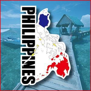 【國旗商品創意館】菲律賓國旗地圖抗UV、防水貼紙/Philippines/世界多國款可選購