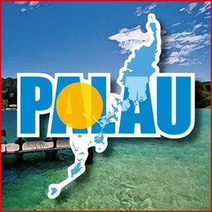 【國旗商品創意館】帛琉國旗地圖抗UV、防水貼紙/Palau/世界多國款可選購