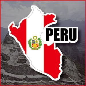 【國旗商品創意館】秘魯國旗地圖抗UV、防水貼紙/Peru/世界多國款可選購