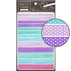 【LABCLIP】Customize sticker系列 Free cut sticker-愛心紫色