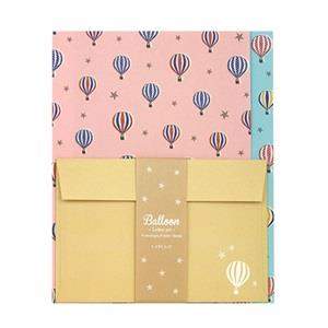 【LABCLIP】Letter Set 系列 Balloon 信紙組 / 粉紅色