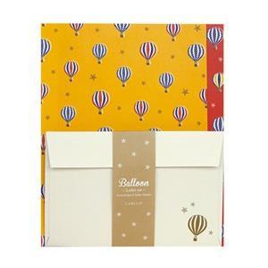 【LABCLIP】Letter Set 系列 Balloon 信紙組 / 黃色