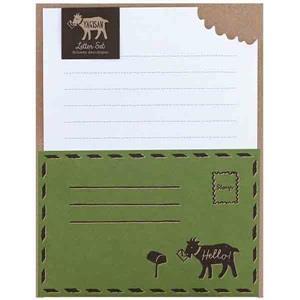 【LABCLIP】Letter Set 系列 Yagisan 信紙組 / 綠色