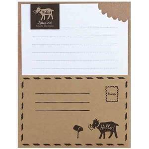 【LABCLIP】Letter Set 系列 Yagisan 信紙組 / 牛皮色