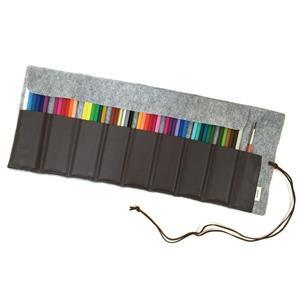 多用途(灰)48色彩色鉛筆卷筆袋.韓國Byranon