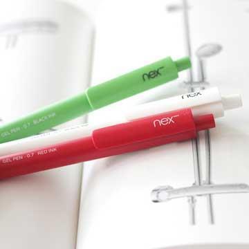滑順好寫 PREMEC NEX Gel Pen 瑞士膠墨筆 熱情義大利 綠白紅筆身 三入組