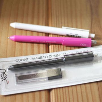 手感舒適 PREMEC NEX LEAD 瑞士自動鉛筆組 0.5mm(白色組)