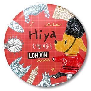 Smohouse大圓胸章:飛遊城市 狗店長遊英國倫敦