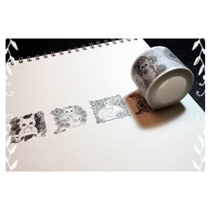 【絕版出清】貓境幻遊著色型大衛畫貓設計師紙膠帶30MM10米