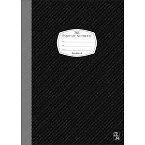 Double A B5/18K膠裝筆記本每日經典系列-黑色DANB14006