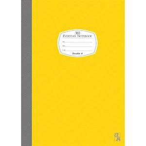 Double A B5/18K膠裝筆記本每日經典系列-黃色DANB14008
