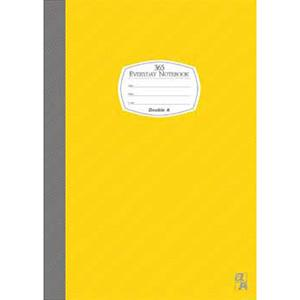 Double A A5/25K膠裝筆記本每日經典系列-黃色DANB14012