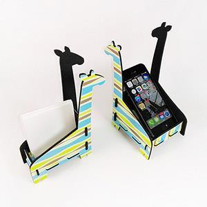 [imSTONE石頭紙禮品]長頸鹿便條紙盒/手機座