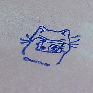 手作印章-Mini 1.5cm*1.5cm_大衛畫貓設計-04愛拍照