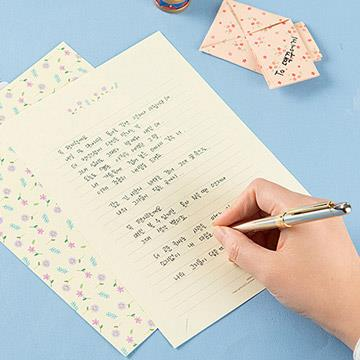 【Ardium】粉彩塗鴉信紙組/4張信紙2張信封 ( 薄荷蛋糕)