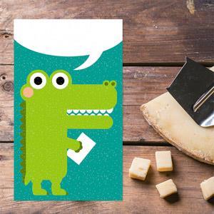 【賣腦瓜】小鱷魚系列明信片-寫封情書給妳