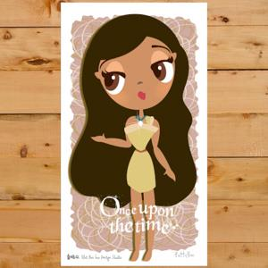 【賣腦瓜】小公主系列明信片 - 寶嘉康蒂 Pocahontas