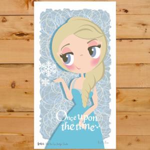 【賣腦瓜】小公主系列明信片 - 冰雪女王 Frozen
