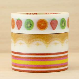 RINK 日本和紙膠帶_ Sweet deco 水果塔