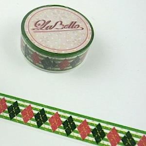 【i-tape】MIT和紙膠帶.LaBelle系列-綠菱格