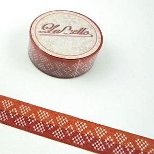 【i-tape】MIT和紙膠帶.LaBelle系列-紅織紋