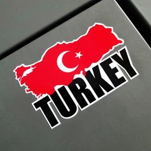 【國旗商品創意館】土耳其國旗地圖抗UV、防水貼紙/Turkey/世界多國款可選購