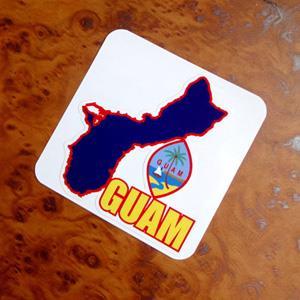 【國旗商品創意館】關島州旗地圖抗UV、防水貼紙/GUAM/世界多國款可選購