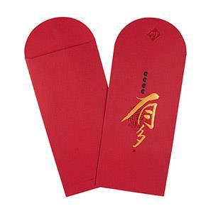 Dr.Paper精緻紅包袋(紅細紋-有多)2入/包 MA-R01