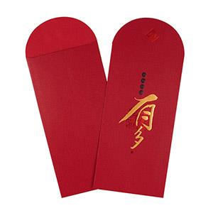Dr.Paper精緻紅包袋(金點紅-有多)2入/包 MA-R03
