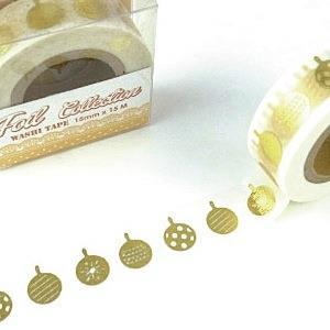 【i-tape】MIT和紙膠帶.燙金系列-聖誕彩球
