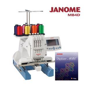 買一送一↘MB-4職業刺繡機加送刺繡軟體組合(MB4D)