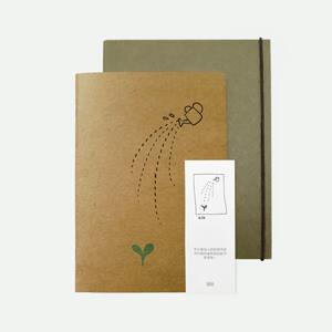 【大粥文化】親六度系列 創意環保筆記本+書衣套組 布施。A5(圓點)