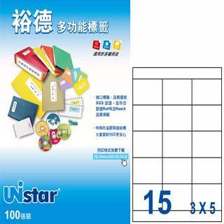 Unistar 裕德3合1電腦標籤 US4278 (100大張(A4)/盒)