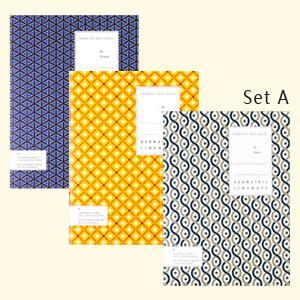 【Ardium】幾何圖型筆記本/S size ( A組(藍色三角形、黃色菱形、灰色曲形)