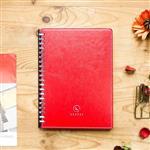 【Leatai 磊泰】歲月靜好 A5仿羊皮滑動夾活頁本 (介紙1.0 / 鋼筆適用紙)-紅色