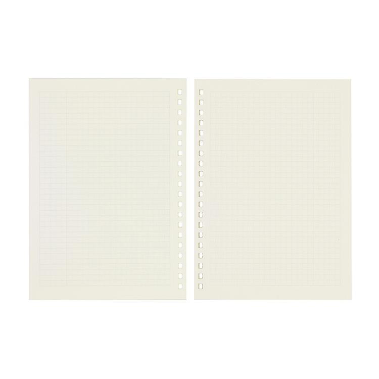 【Leatai 磊泰】介紙1.0(鋼筆適用紙) / 方格內頁補充包 / A5活頁紙20孔