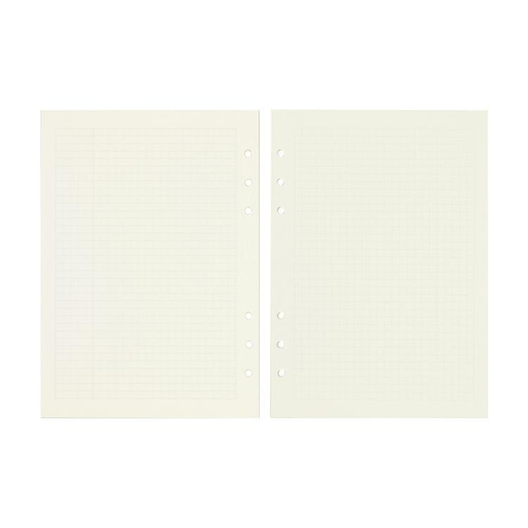 【Leatai 磊泰】介紙1.0(鋼筆適用紙) / 方格內頁補充包 / A5活頁紙6孔