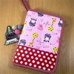 手縫ok!-寶寶手冊收納袋-粉(拼布材料包)