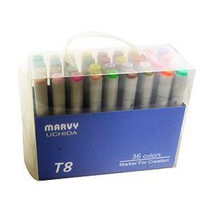 UCHIDA MARVY T8酒精性雙頭麥克筆36色