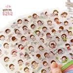 第二代韓國餅乾女孩Momoi貼紙組(6入)