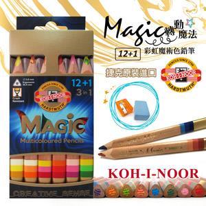 KOH-I-NOOR HARDTMUTH ★光之山★12+1三角彩虹魔術铅筆- 短桿