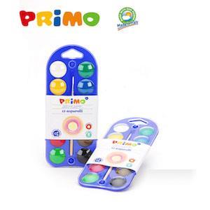 義大利primo 可水洗12色無毒水彩顏料(附筆)