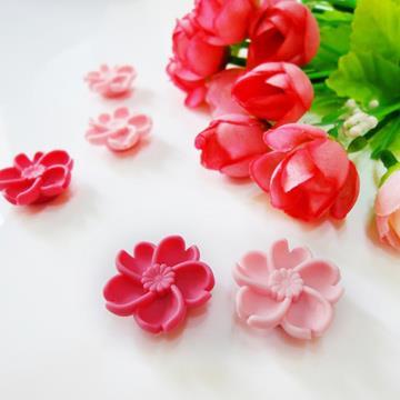 kalo卡樂創意 櫻花朵朵造型磁鐵(一組五入)