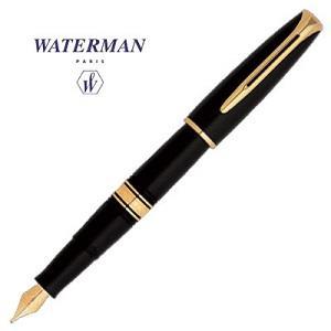 Waterman華特曼 CHARLESTON查理斯登系列 復古經典18K黑桿金夾鋼筆 F尖