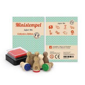【STEMPLINO】Small Mixes系列德製小木頭印章-野生動物組合