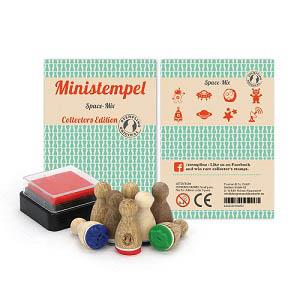 【STEMPLINO】Small Mixes系列德製小木頭印章-太空組合